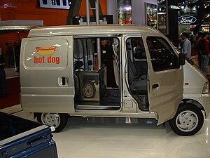 Tiger Truck - Tiger Star van in hotdog delivery setup.