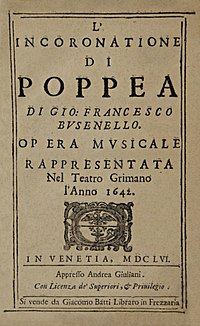 Title page of the 1656 libretto of L'incoronazione di Poppea.jpg