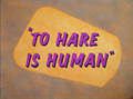 To Hare is Human title card.png
