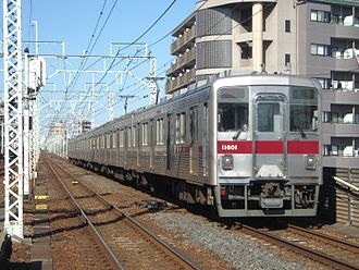 Tobu 10000 series - Refurbished 10000 series 6-car set 11601 in January 2008