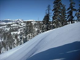 Top of Red Tail Run and Iron Mtn California near Kirkwood ca - panoramio.jpg