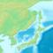 日本の地形図(北部)