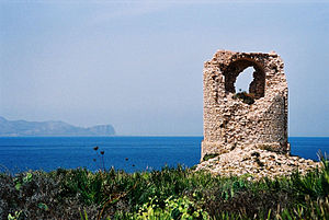 Gulf of Castellammare - Image: Torre Capo Rama bjs