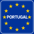 Traffic sign of border with Portugal.svg