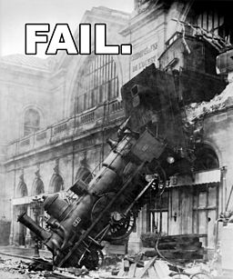 Train wreck at Montparnasse 1895 FAIL