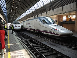 Renfe Operadora - Trains at Santa Justa station Seville.