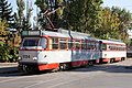 Tram in Sofia in front of Tram depot Banishora 011.jpg