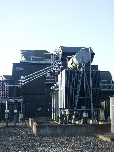 Transformer and electricity power generating gear at Knapton Power Station - geograph.org.uk - 545607