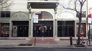 Trocadero Theatre - Exterior of venue (c.2015)
