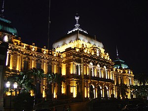 Tucumán Government Palace - The palace at night