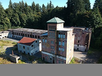 Olympia Brewing Company - The old Tumwater brewery building in 2018.