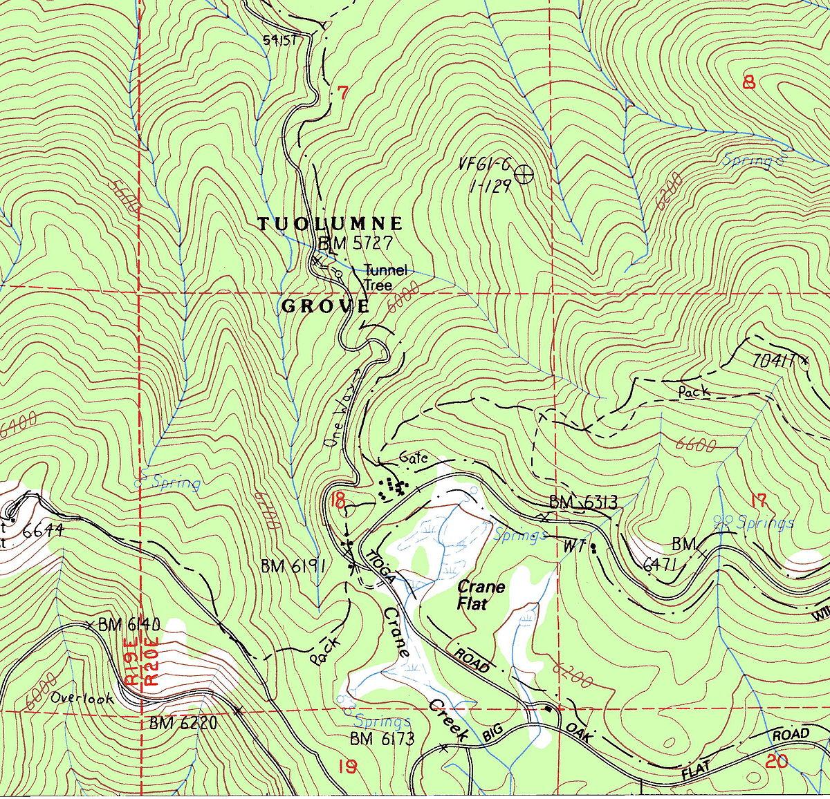 States Visited Map >> Tuolumne Grove - Wikipedia