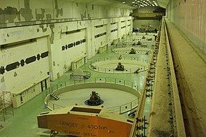 Haditha Dam - Image: Turbine room, Haditha Dam