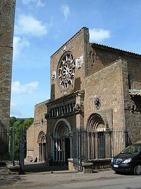 La chiesa di Santa Maria Maggiore di Tuscania, ritenuta da alcuni (Giontella) l'antica cattedrale diocesana