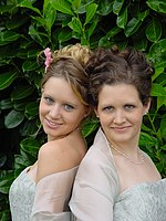 Portrait of two bridemaids.
