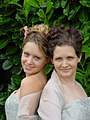 Two Bridesmaids Curly Updos.JPG
