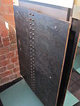 Two sample steel plates riveted together, Merseyside Maritime Museum (3).JPG