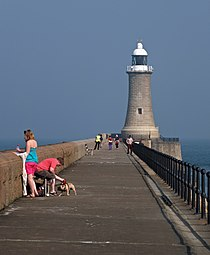 Tynemouth North Pier and Lighthouse....... (7275481552).jpg