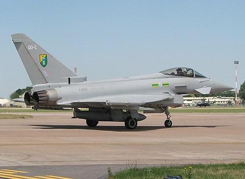 유로파이터 타이푼. 사진은 영국 공군용 F2 버전