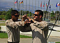 U.S. Marines assigned to the Marine Corps Security Force Europe's Fleet Anti-Terrorism Security Team practice crew control techniques at the NATO Maritime Interdiction Operational Training Center in Souda Bay 130822-N-MO201-071.jpg