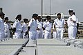 U.S. Navy Chief Gunner's Mate Chris Williams, right, explains the vertical launching system aboard the guided missile destroyer USS McCampbell (DDG 85) to Indian Navy officers during a tour of the ship as 131106-N-TX154-734.jpg