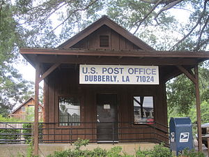 Dubberly, Louisiana - U.S. Post Office in Dubberly