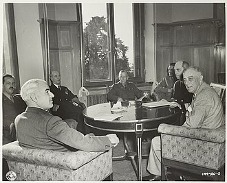 Yalta Conference - Image: U.S. delegation at the Yalta Conference