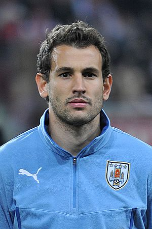 Cristhian Stuani - Stuani lining up for Uruguay in 2014
