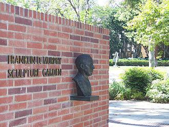 Franklin D. Murphy Sculpture Garden - Entrance to the sculpture garden