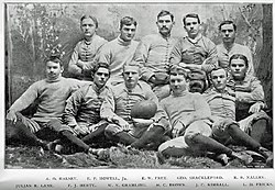 Team photo of the 1892 squad.