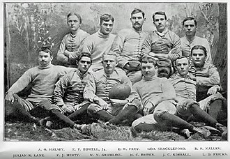 History of Georgia Bulldogs football - The first football team of 1892.