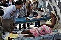 USAID Administrator Shah visits hospital patients in Haiti (4300958375).jpg