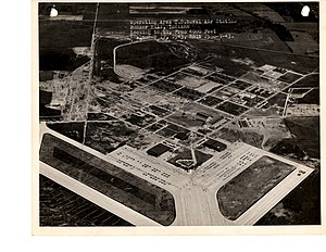 Grissom Air Reserve Base - United States Naval Air Station, Bunker Hill, Looking North 4000ft 9-17-1943