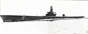 Becuna (SS-319), after commissioning in May 1944.