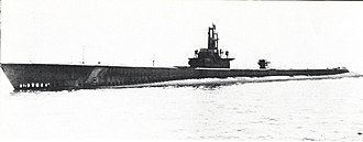 USS Becuna (SS-319) - Becuna (SS-319), after commissioning in May 1944.