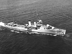 USS Dale (DD-353) underway in April 1938.