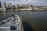 USS John P. Murtha (LPD-26) approaches Penn's Landing, Philadelphia.jpg