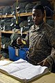 US Army 53585 BAGHDAD - Long Beach, Calif. Native, Spc. Clifton Simon, laundry maintenance specialist assigned to the 488th Quartermaster Company, attached to the 1st Brigade Combat Team, 1st Cavalry Division, insp.jpg