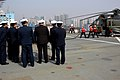 US Navy 040226-N-9860Y-027 People's Liberation Army (Navy) personnel watch a crash-and-salvage firefighting drill aboard USS Blue Ridge (LCC 19).jpg