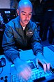 US Navy 041112-N-3644C-162 Chief Fire Controlman Steve Bailey, assigned to Commander Destroyer Squadron Two Six (Desron 26) manages the Strike Group Recognize Maritime Picture.jpg