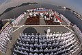 US Navy 050910-N-1693W-078 Sailors stand at parade rest on the flight deck of the U.S. Seventh Fleet command ship USS Blue Ridge (LCC 19) during the change of command ceremony.jpg