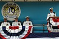 US Navy 060623-N-1928H-199 Cmdr. Christopher L. Harkins speaks after assuming command of the Los Angeles-class fast attack USS Montpelier (SSN 765) during a change of command ceremony at Naval Station Norfolk.jpg