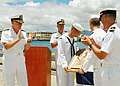 US Navy 060815-N-9486C-001 Commander, U.S. Pacific Fleet Adm. Gary Roughead, left, and Commander, Submarine Force U.S. Pacific Fleet, Rear Adm. Joseph Walsh, center, presented the Arleigh Burke Fleet Trophy.jpg