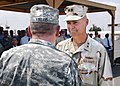 US Navy 070214-N-1328C-084 U.S. Navy Rear Adm. Richard Hunt receives the Defense Superior Service Medal for his tour as Commander, Combined Joint Task Force-Horn of Africa (CJTF-HOA) from Commander.jpg