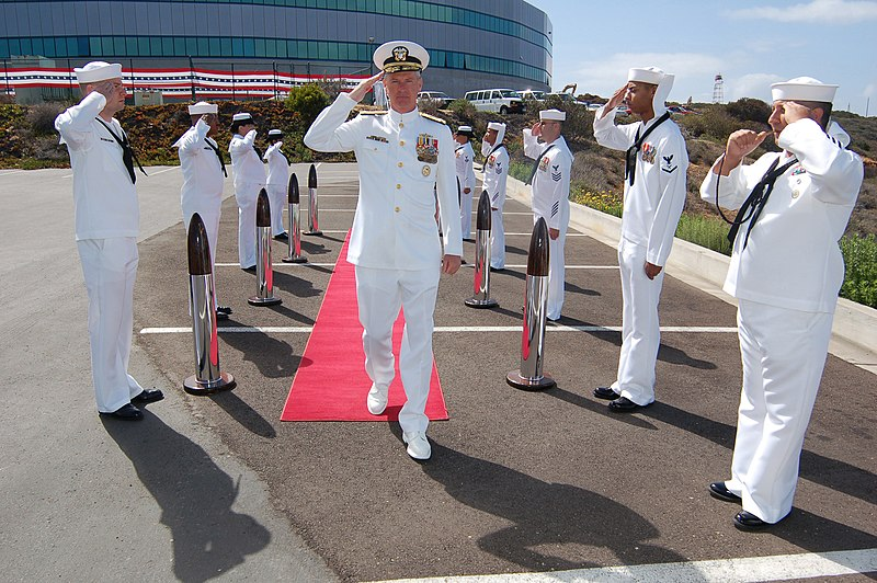 File:US Navy 070503-N-3925A-003 Vice Adm. Barry Costello walks through ceremonial side boys during the Commander, U.S. Third Fleet change of command ceremony.jpg