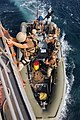 US Navy 071016-N-1928H-167 ailors attached to the guided-missile cruiser USS Vicksburg (CG 69) Visit, Board, Search and Seizure (VBSS) team prepare to conduct boarding operations.jpg