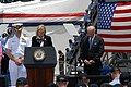 US Navy 090514-N-2344B-109 Dr. Jill Biden delivers a prayer to the crew of the Nimitz-class aircraft carrier USS Ronald Reagan (CVN 76).jpg