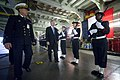 US Navy 101027-N-5549O-008 Secretary of the Navy (SECNAV) the Honorable Ray Mabus, left, tours the French navy amphibious assault ship FNS Mistral.jpg