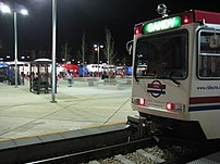 UTA TRAX and FrontRunner at Night 1