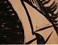 Umberto boccioni, voglio fissare le forme umane in movimento (linea unica della continuità nello spazio, bianco e nero), 1913 (cast. sforzesco) 02 firma.jpg